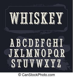 whisky, font