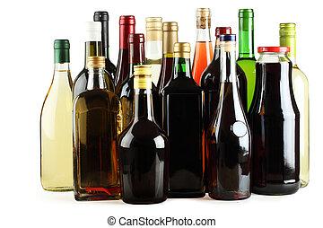 whisky, gin, jus, cognac, vin, vodka.
