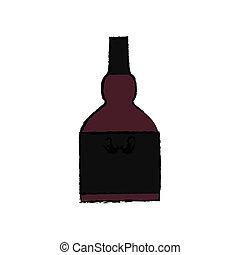 whisky, glasflaska