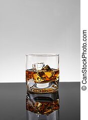 whisky, hielo