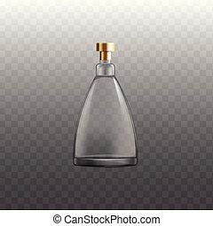 whisky, mockup, ou, réaliste, isolated., cognac, cognac, illustration, bouteille, vecteur