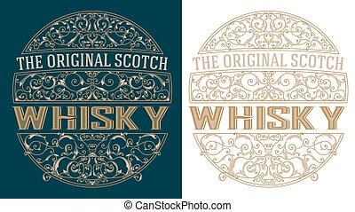 Whisky retro label