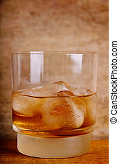 whisky, rochers