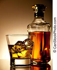 whisky, sobre las rocas