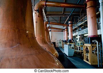 Islay whisky distillery stills