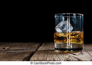 whisky, svobodný, slad