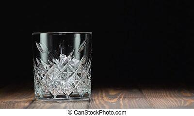 whisky, verre, verser