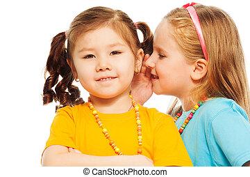 Whisper in friends ear