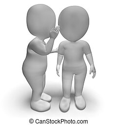 Whispering Gossip 3d Characters Have Secrets And Blab -...