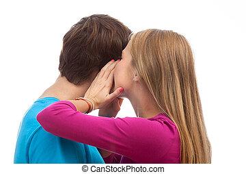 Whispering in the ear