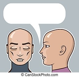 Whispering in the ear speech bubble