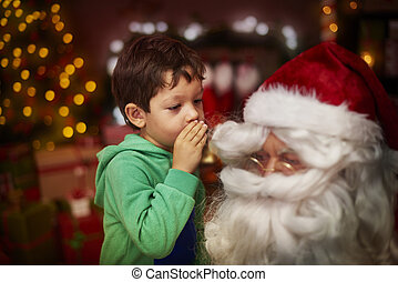 Whispering the hidden dreams for St. Claus