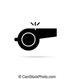 whistle black vector silhouette