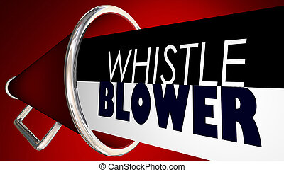 Whistle Blower Megaphone Bullhorn Expose Wrong Injustice...
