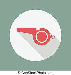 Whistle flat icon