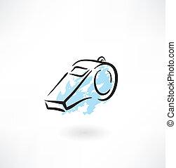 whistle grunge icon