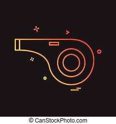Whistle icon design vector