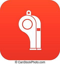 Whistle icon digital red