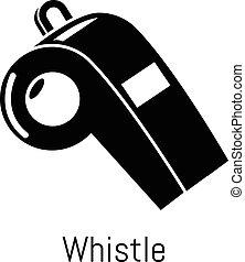 Whistle icon, simple black style - Whistle icon. Simple...
