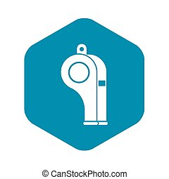 Whistle icon, simple style