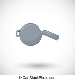 Whistle vector flat icon