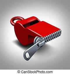 Whistleblower Silence - Whistleblower silence concept or...