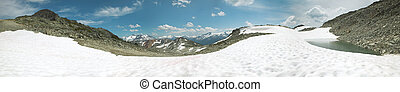 whistler, bergen, panoramisch, overzicht., brits, columbia., canada