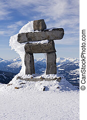 Whistler Inuk'Shuk - A stone figure, resembling a person, ...