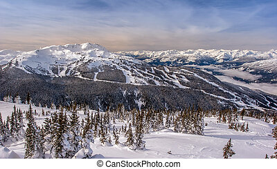 Whistler Mountain, British Columbia in Winter