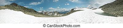 Whistler mountains panoramic view. British Columbia. Canada