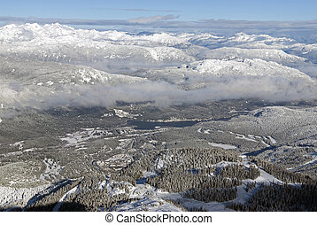 Whistler Village and Coast Mountains, British Columbia, Canada