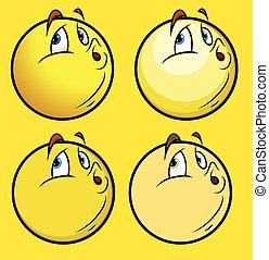 Whistling Emoticon Set