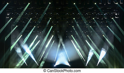 Whit concert light - Illuminated empty concert stage with ...