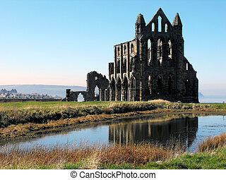 Whitby Abbey which inspired Brams Stoker when writing the...