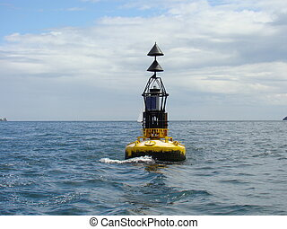 Whitby Warning Bouy - The Bouy approaching Whitby harbour ...