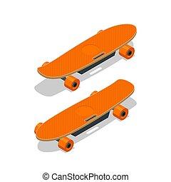white., 電気である, longboard, ∥あるいは∥, スケートボード, 等大, 隔離された