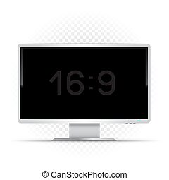 white 16 to 9 computer monitor