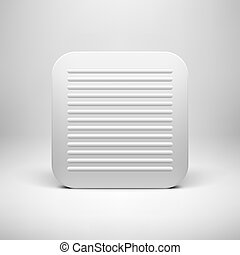 White Abstract App Icon Button Template - White abstract...