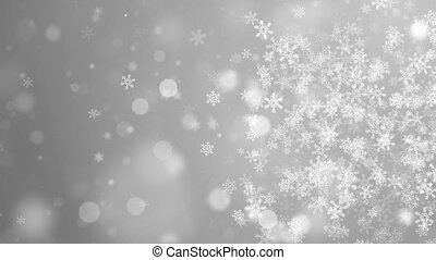 White Abstract Falling snow flakes Snowflakes Particles 4K Loop Animation