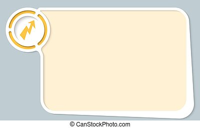 White abstract frame for your text and flash