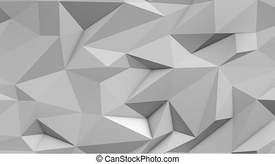 White abstract low poly triangle background
