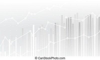 White Abstract Simple Uptrend Financial Chart Background
