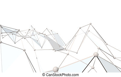 White abstract technology background