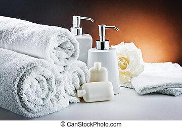 white accessories bathroom hygiene - Accessories for bath:...