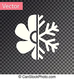 White Air conditioner icon isolated on transparent background. Vector Illustration