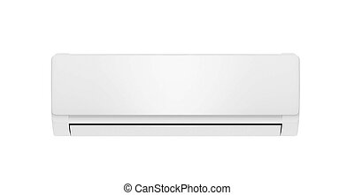 white air conditioner isolated on white background