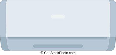 White air conditioner machine icon isolated
