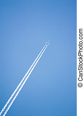 White airplane trace