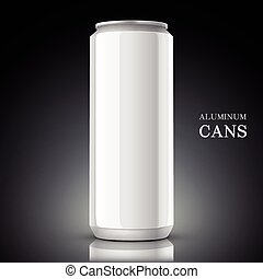 white aluminum can