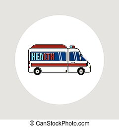 White Ambulance Vector cartoon